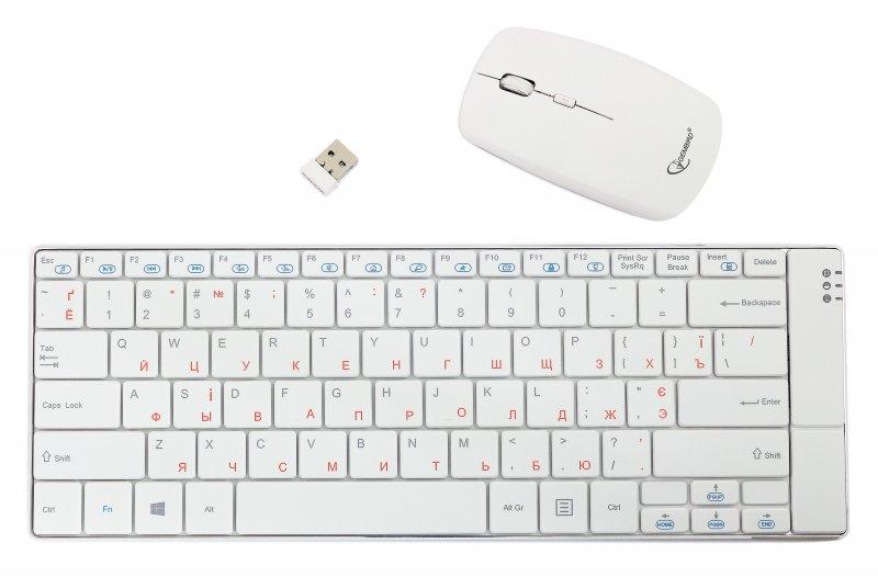 Беспроводной комплект Gembird клавиатура и мышка (KBS-P7-W-UA)