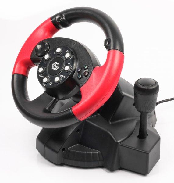 Игровой манипулятор Gembird руль с педалями STR-MV-02
