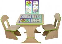Игровой столик растущий и два стульчика Финекс плюс, обучающий (301)