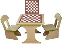 Игровой столик растущий и два стульчика Финекс плюс, шахматы (302)