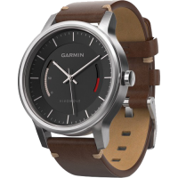 Часы Garmin Vívomove Premium, Stainless Steel with Leather Band (010-01597-20)