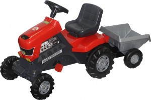 Каталка-трактор с педалями Coloma Y Pastor-Polesie 'Turbo' с полуприцепом (52681)