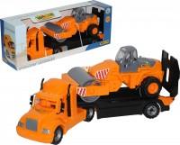 Автомобиль-трейлер Polesie 'Майк' (+ дорожный каток) (55712)
