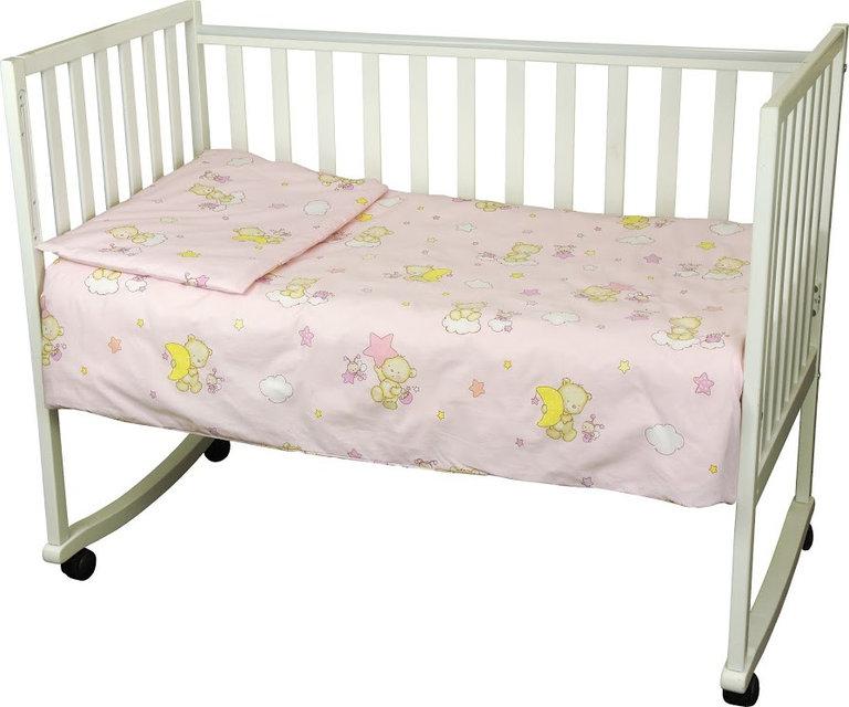 Купить Детское постельное белье ТМ РУНО 60*120 (932.02_(Рожевий) ведмедик пузатик)