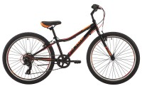 Велосипед Pride 'Brave 7' 2017 черный/оранжевый/красный 24