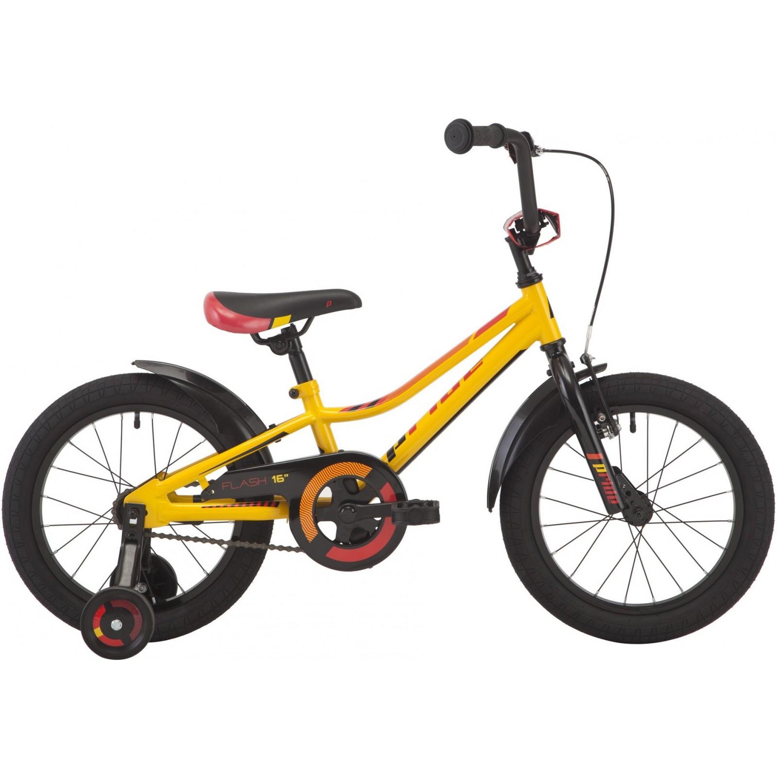 Купить Велосипед Pride 'Flash' 2018 желтый/красный/черный 16 (SKD-37-37)