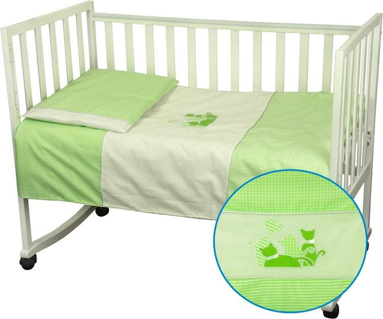 Купить Детское постельное белье ТМ РУНО 60*120 (932Кошенята_Салатовий)