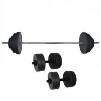 Штанга наборная Newt 'Rock' 92 кг + две гантели Newt 'Rock' 10 кг (NE-KS-180-192)
