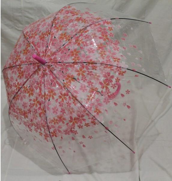 Купить Зонт-трость Mario 'Сакура' 84 см, розовый (308р)