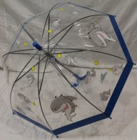 Детский зонт грибком RST 74 см (синий)