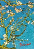 Книга Блокнот в пластиковой обложке. Ван Гог. Цветущие ветки миндаля (А5)