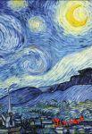 Книга Блокнот в пластиковой обложке. Ван Гог. Звёздная ночь (А5)