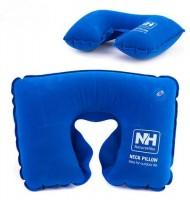 Надувная подушка NatureHike 'Inflatable Travel Neck Pillow' blue (NH15A003-L)
