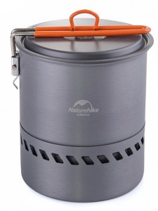 Котелок NatureHike для радиатором 1.5 л, grey (NH15T216-G)