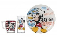 Детский набор Luminarc 'Disney Party Mickey' 3 пр. (L4871)