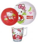Детский набор Luminarc 'Hello Kitty Cherries' 3 пр. (J0768)