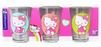 Набор стаканов Luminarc 'Hello Kitty Nordic Flower' 3x160 мл (H5531)