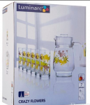Набор для напитков Luminarc 'Crazy Flower' 7пр. (N0802)