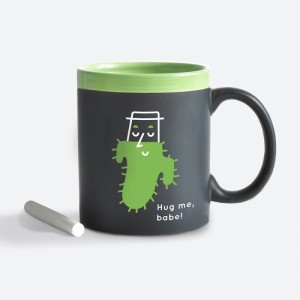Подарок Чашка керамическая Gifty 'Hug me, babe! Green' 320 мл, с мелком (AA-0004921)