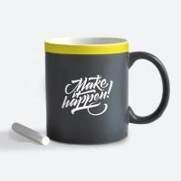 Подарок Чашка керамическая Gifty 'Make it happen' 320 мл, с мелком (AA-0004468)