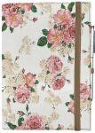Подарок Блокнот Rainbow А5 'Розовый цвет' (эко-кожа) (бежевые листы)