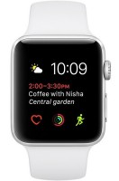 Смарт-часы Apple Watch Series 2 42mm Silver Aluminum Case with White Sport Band (MNPJ2)
