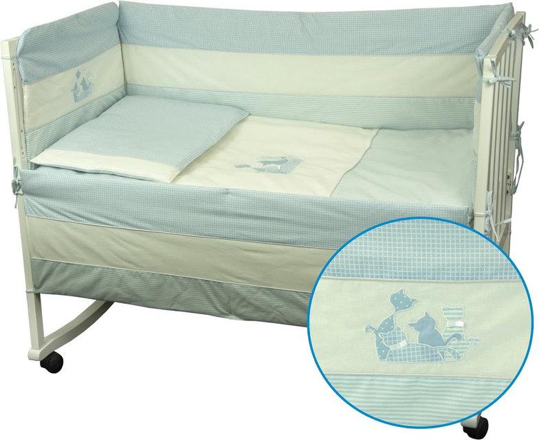 Купить Детское постельное белье ТМ РУНО 60*120 (977Кошенята_Блакитний)