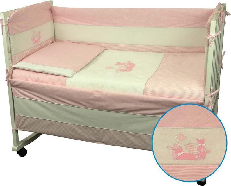 Купить Детское постельное белье ТМ РУНО 60*120 (977Кошенята_Рожевий)