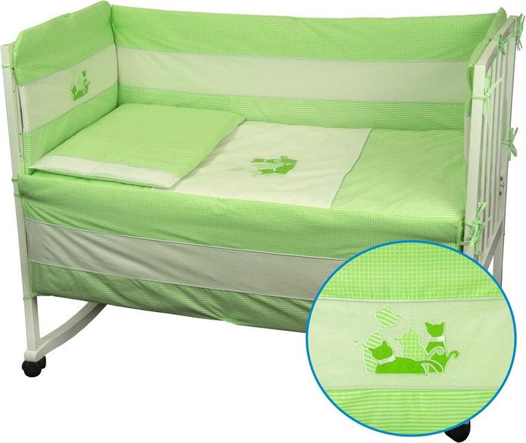 Купить Детское постельное белье ТМ РУНО 60*120 (977Кошенята_Салатовий)