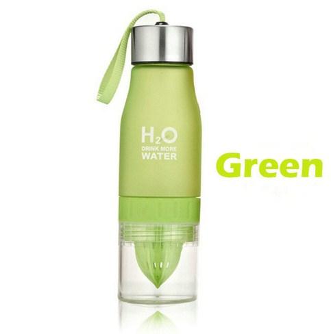 Бутылка H2O water bottles, зеленая, 650 мл  - купить со скидкой