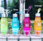 фото Бутылка H2O water bottles, оранжевая, 650 мл #4