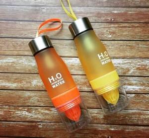 фото Бутылка H2O water bottles, оранжевая, 650 мл #6