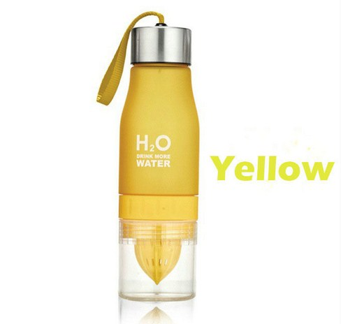 Купить Бутылка H2O water bottles, желтая, 650 мл