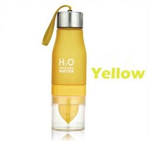 Подарок Бутылка H2O water bottles, желтая, 650 мл