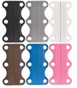 Подарок Магниты для шнурков Zubits Magnetic Shoelaces (42 мм) белые