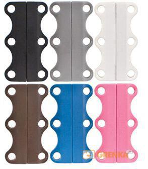 Купить Магниты для шнурков Zubits Magnetic Shoelaces (42 мм) розовые