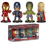 фигурка Набор фигурок Башкотряс Funko Wacky Wobbler Mini 4-Pack: Marvel: Avengers AOU