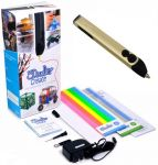 3D-ручка 3Doodler Create для профессионального использования, золотая (3DOOD-CRE-BUTTER-EU)