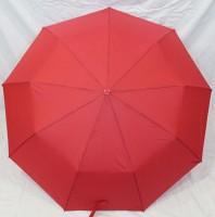 Зонт полуавтомат в 3 сложения с проявкой (антиветер) (красный)