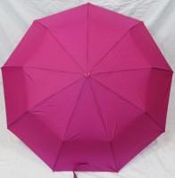 Зонт полуавтомат в 3 сложения с проявкой (антиветер) (малиновый)