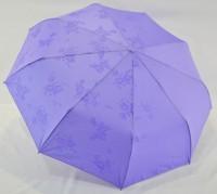 Зонт полуавтомат в 3 сложения (антиветер) (светло-сиреневый)