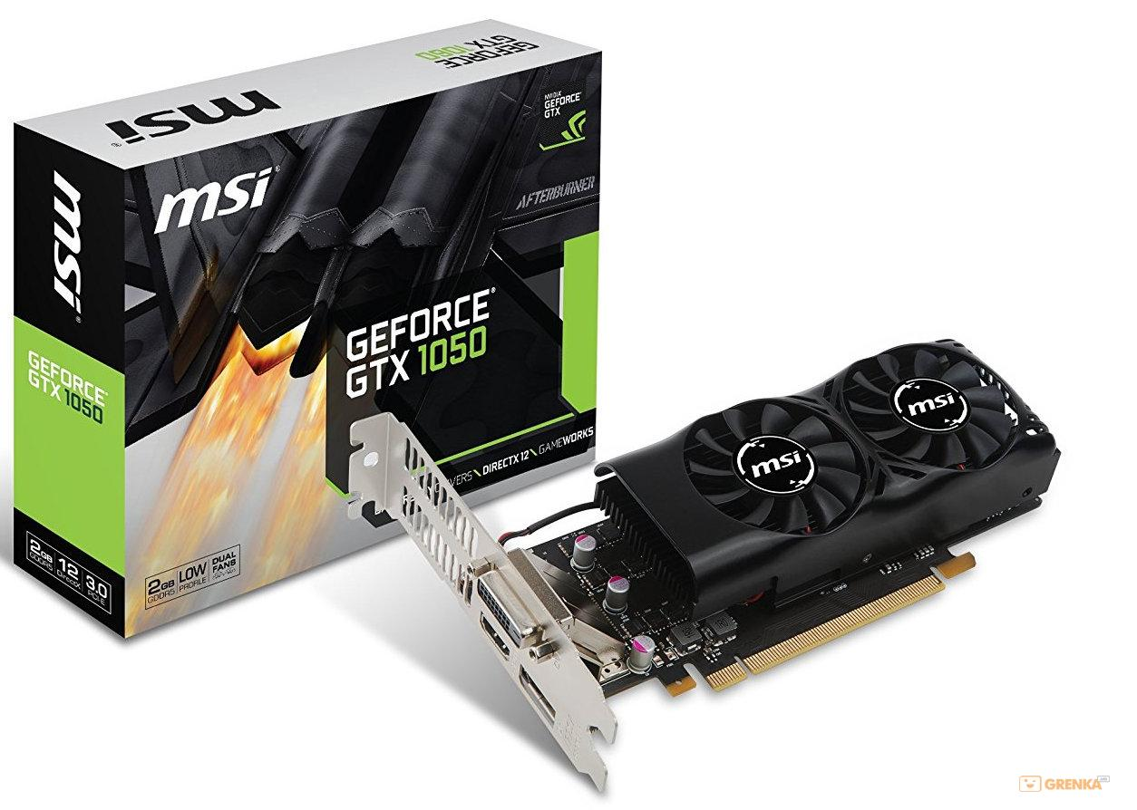 Видеокарта MSI GeForce GTX1050 2GB DDR5 Low Profil (GTX_1050_2GT_LP)