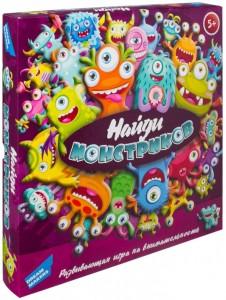 Настольная детская игра Dream Makers 'Домино Найди монстриков'