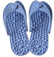 Тапочки массажные 'Релакс' с камнями S голубые (размер 36) (MS-1244)