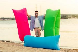 фото Надувной диван зеленый (Lamzac) #8