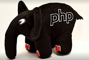 Подарок PHP Слон (Черный с красными ногтями)