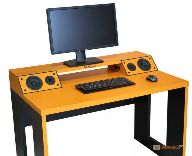 Компьютерный стол со встроенной акустической системой vidlin.