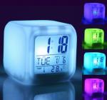 Подарок Часы будильник хамелеон с термометром