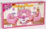 Мебель для кукол Gloria `для гостинной` (22004)
