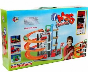 Гараж `Мегапарковка 4 уровня и 4 машинки` (0849)